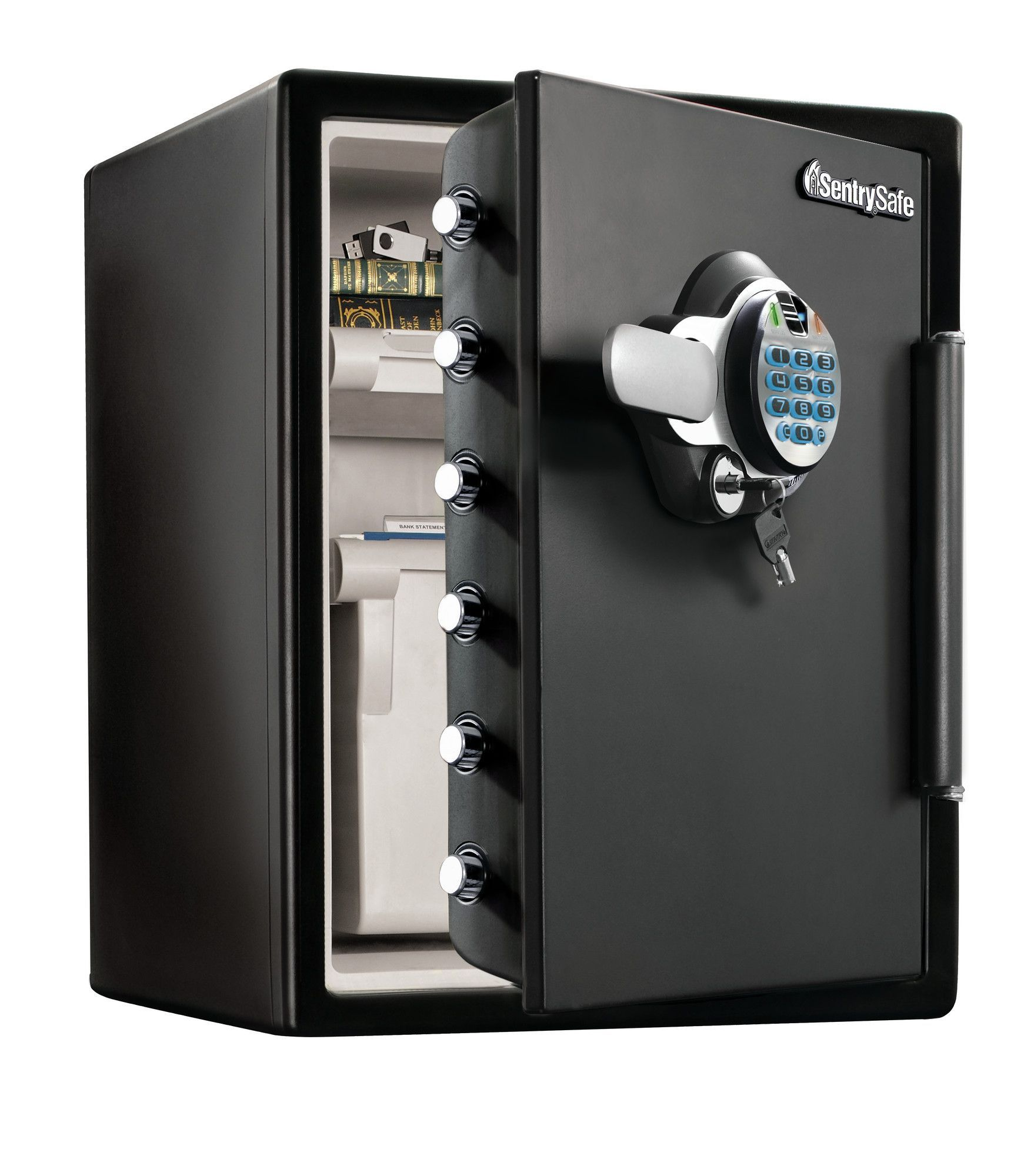 SentrySafe Fingerprint Waterresistant DualLock Security