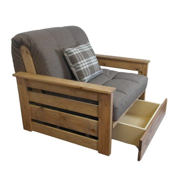 Interesting Futon Chair Bed With Storage Underneath