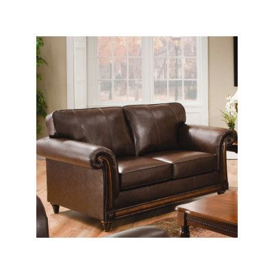 Simmons Upholstery San Diego Loveseat   Loveseat   Leather ...