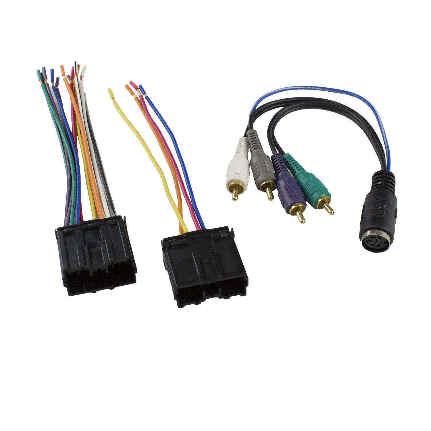 hight resolution of novosonics mif 7004 wiring harness for mitsubishi 4 speaker with amp integration 1994 2007 fits existing connector in your vehicle