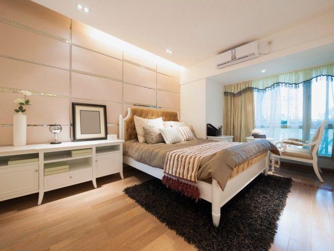 Helle moderne Schlafzimmer mit weißen Schlafzimmermöbel, helle - moderne schlafzimmer designs