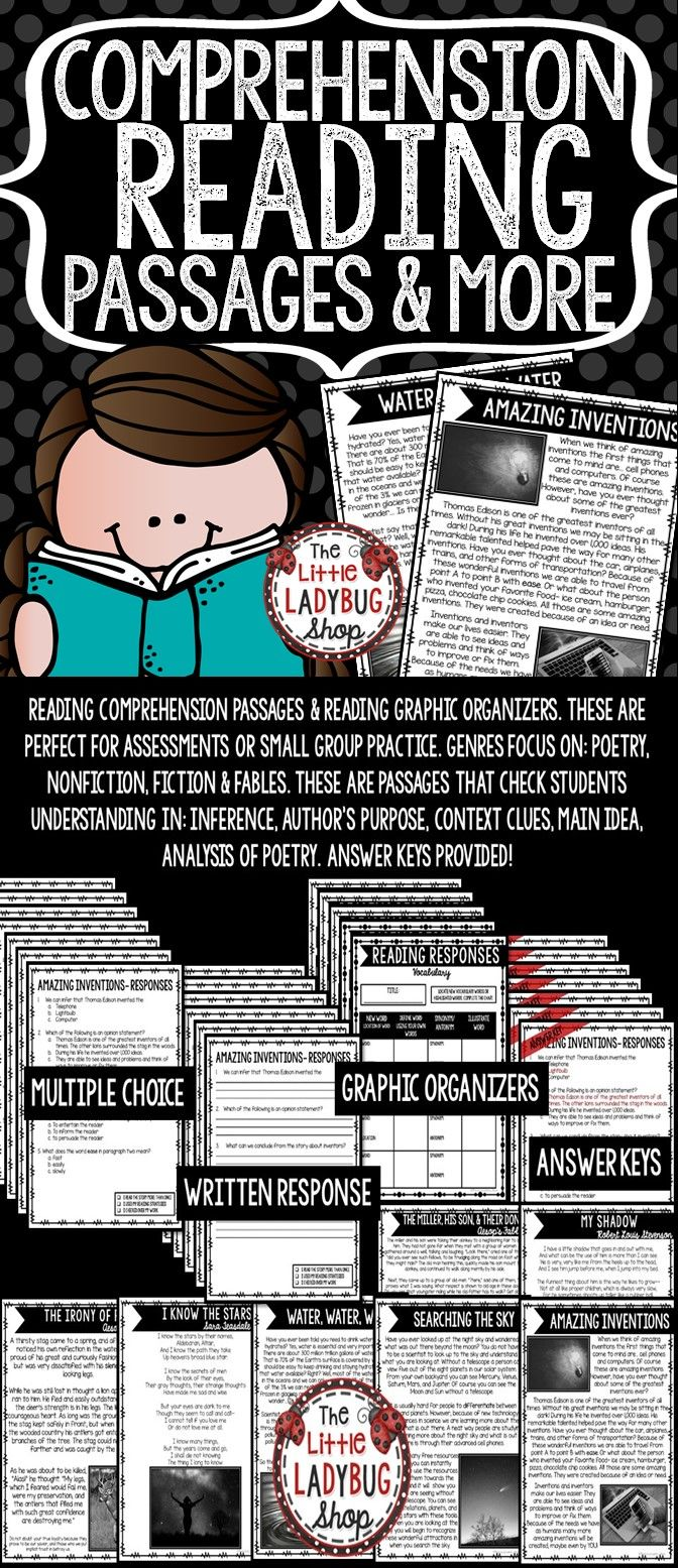 Reading Comprehension Passages Reading Graphic Organizers For 3rd Grade 4th Grade Reading Comprehension Passages Comprehension Passage Reading Comprehension [ 1555 x 672 Pixel ]