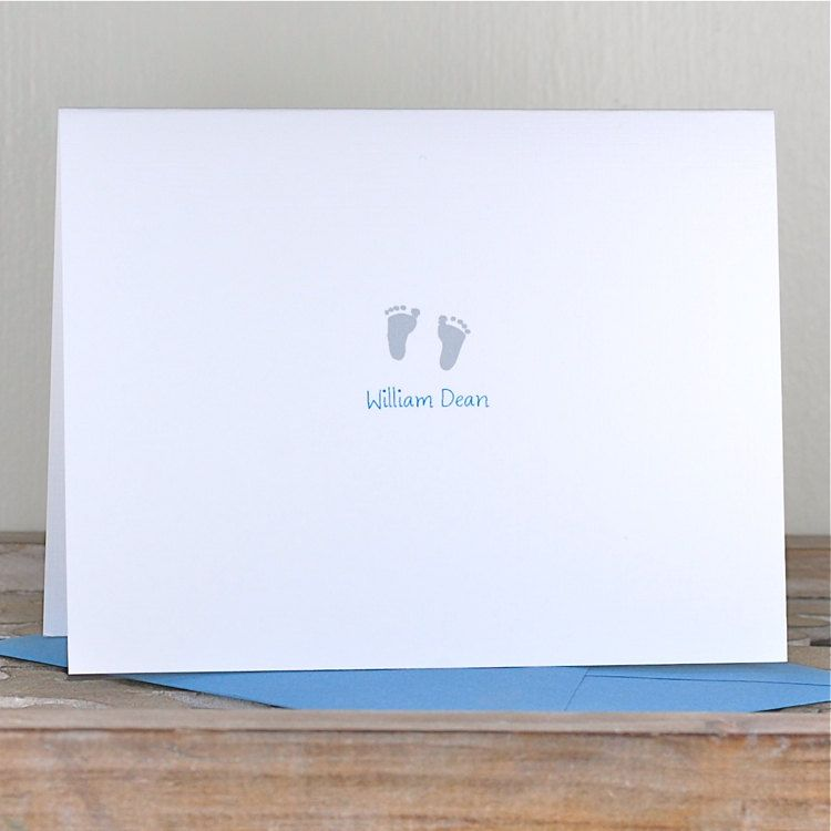 baby thank you cards baby announcement cards baby footprints