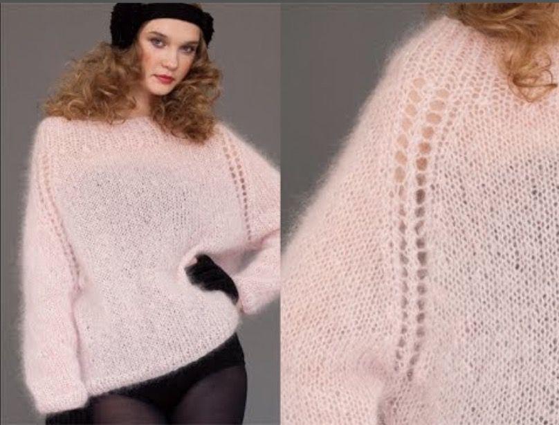 Asombroso Patrones Mohair Tejer Suéteres Ornamento - Ideas de ...