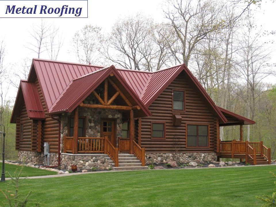 Pin by Monica Lynn on Log cabins in 2019 Metal roof