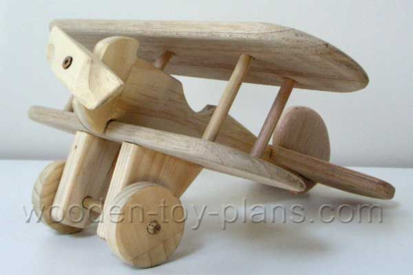 """Download free plans to build this delightful wooden toy airplane with a minimum of tools and readily available materials. The fuselage, propeller, undercarriage and wheels are made from 19mm (3/4"""") pine. The wings, rudder and tailplane is made from 12mm (1/2"""") thick maple or pine."""