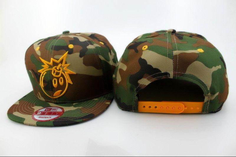 a7e3e60a009 The Hundreds Adam Bomb Snapback Hats Camo New Era 9fifity