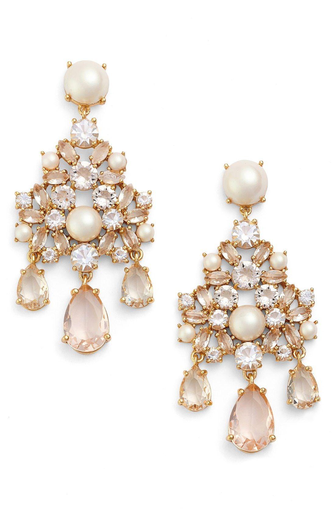 Kate spade new york posy petals crystal chandelier earrings kate spade new york posy petals crystal chandelier earrings available at nordstrom arubaitofo Choice Image
