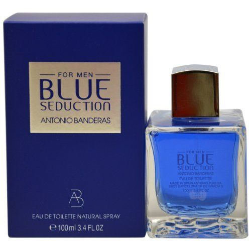 Blue Seduction by Antonio Banderas for Men. Eau De Toilette Spray 3.4-Ounces by Antonio Banderas. $25.77. This item is not for sale in Catalina Island. Packaging for this product may vary from that shown in the image above. Whenapplyingany fragrance please consider that there are several factors which can affect the natural smell of your skin and, in turn, the way a scent smells on you. For instance, your mood, stress level, age, body chemistry,diet, and current ...
