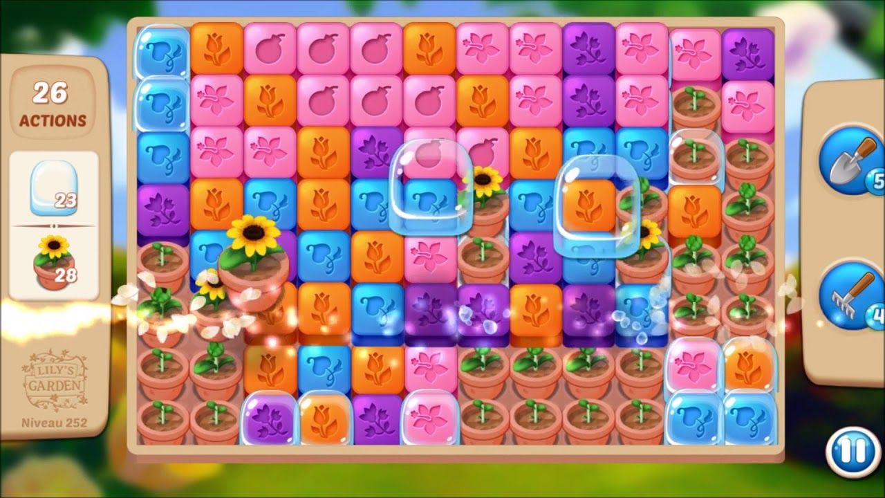 Lily S Garden Level 252 No Boosters Lily Garden Garden Levels Lily