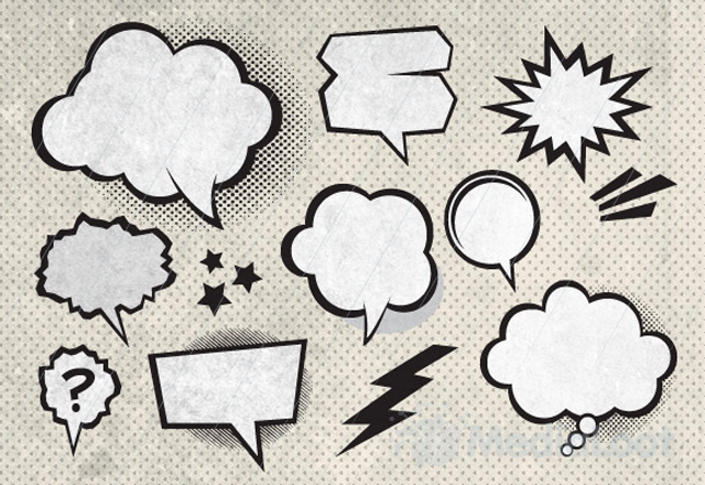 Comic Speech Bubbles On Halftone Transparent Background Transparent Clipart Background Balloon Png And Vector With Transparent Background For Free Download Halftone Graphic Design Background Templates Transparent Background