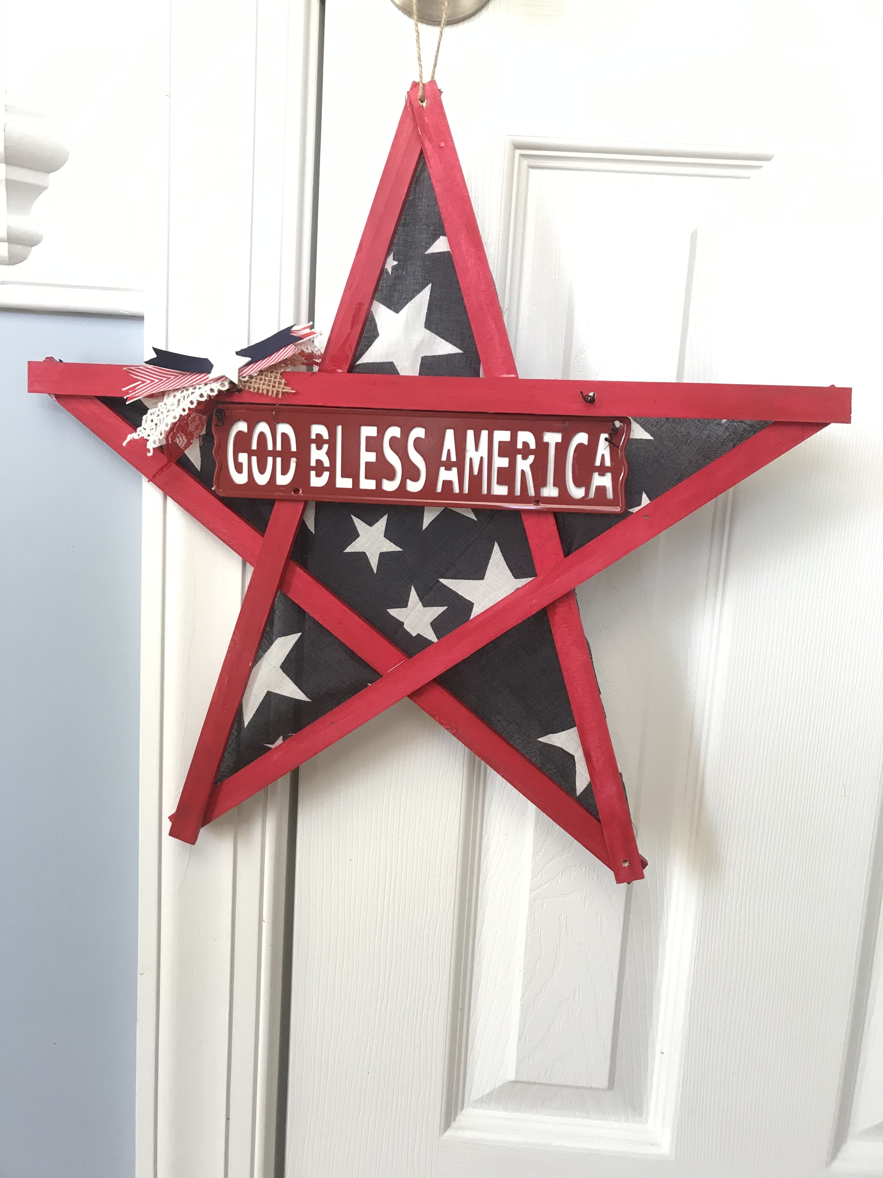 Large Patriotic Bow God Bless America