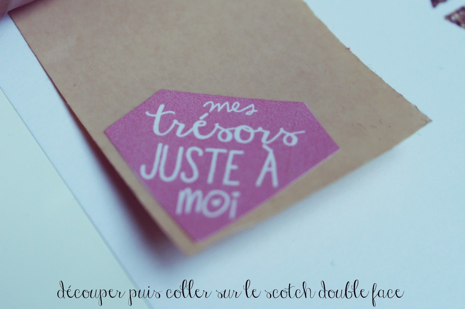 ♥ DIY Etiquettes à imprimer - Mes trésors - ♥