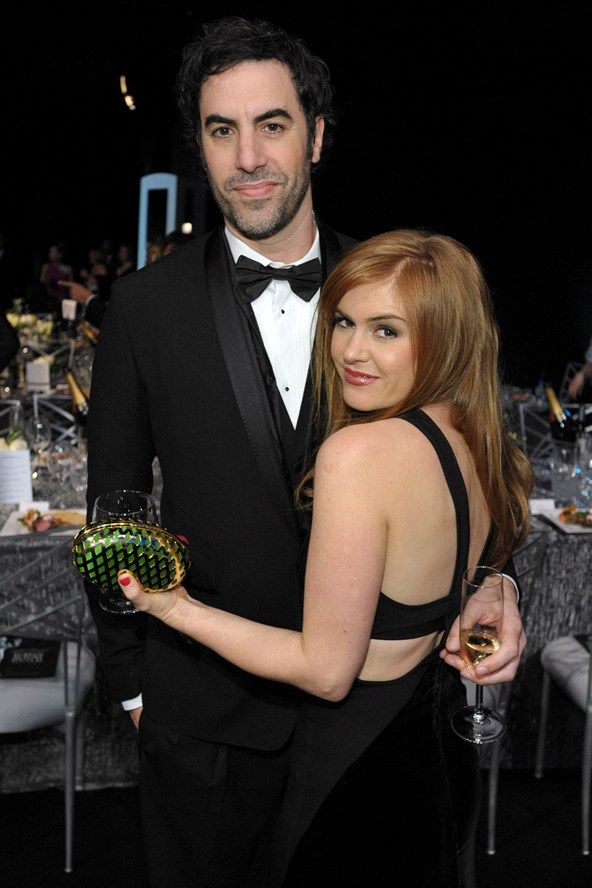 Sacha Baron Cohen and wife Isla Fisher