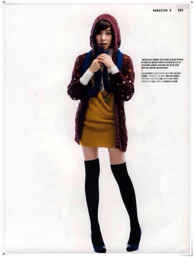 Girls wear colourful knitwears SNSD Tiffany