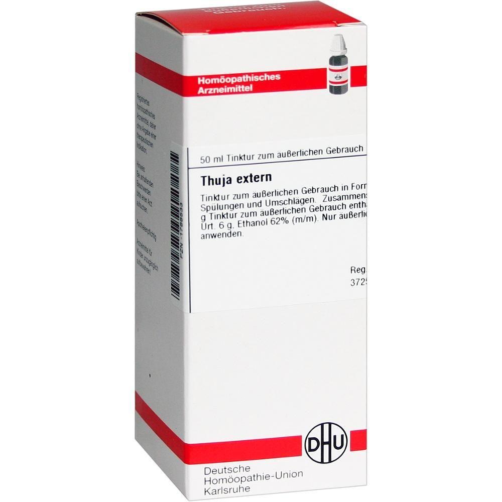 THUJA EXTERN Tinktur Packungsinhalt 50 ml Extrakt PZN