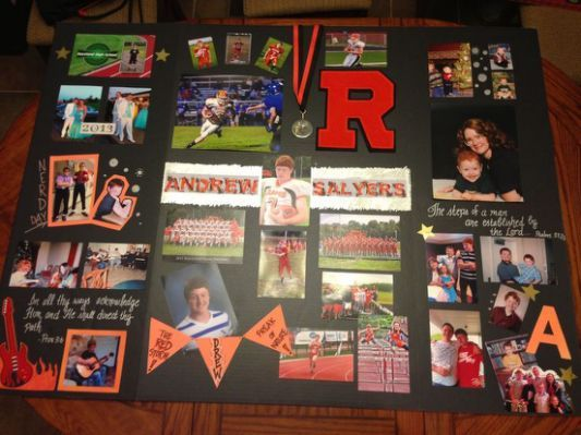 graduation tri fold board senior graduations pinterest tri fold