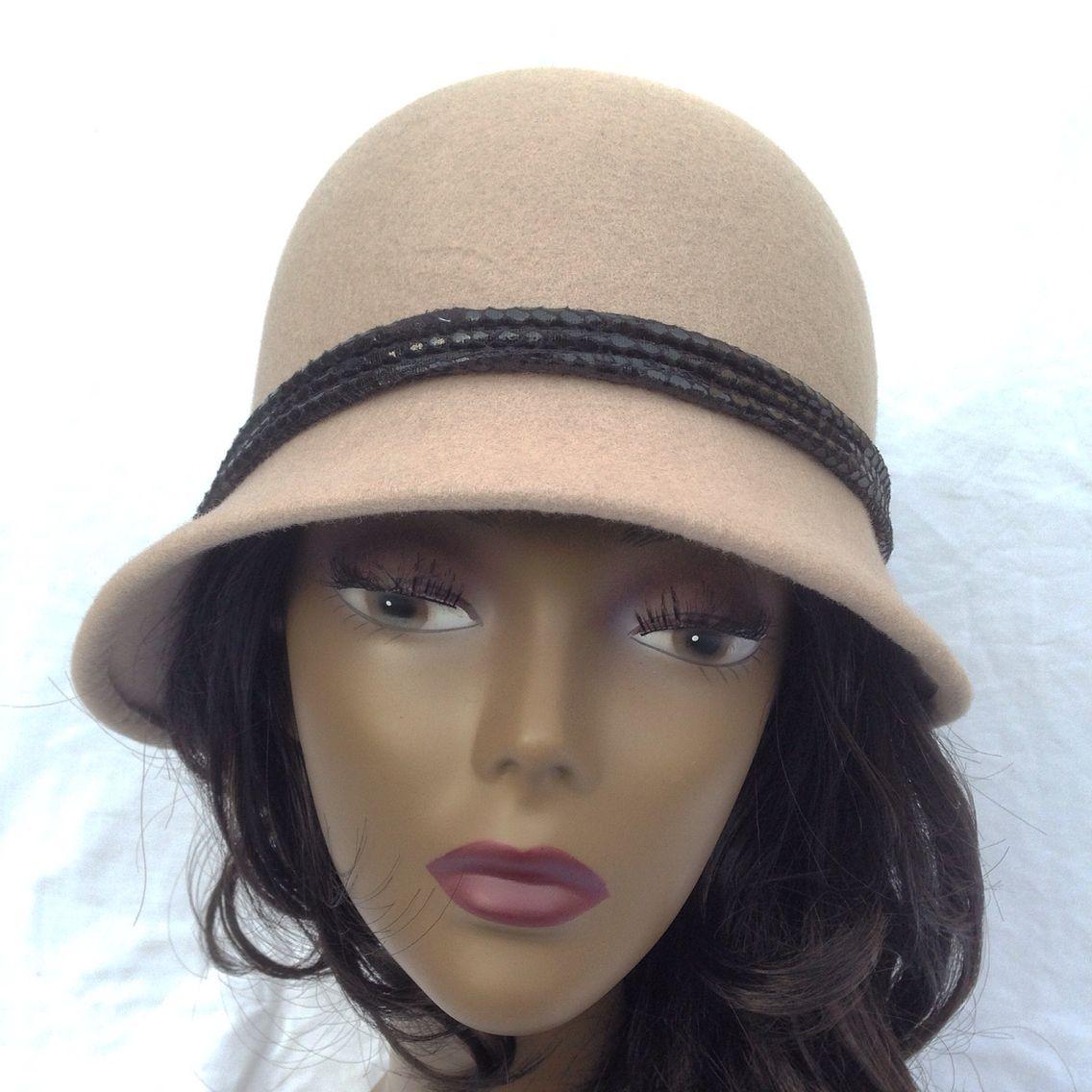 Hat with felt www.monicmillinery.com