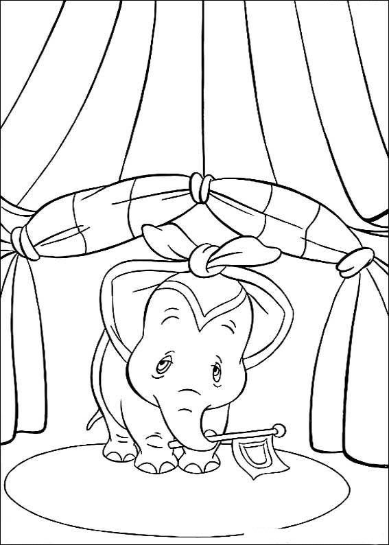 Dibujos para Colorear Dumbo 15 | dibujos | Pinterest