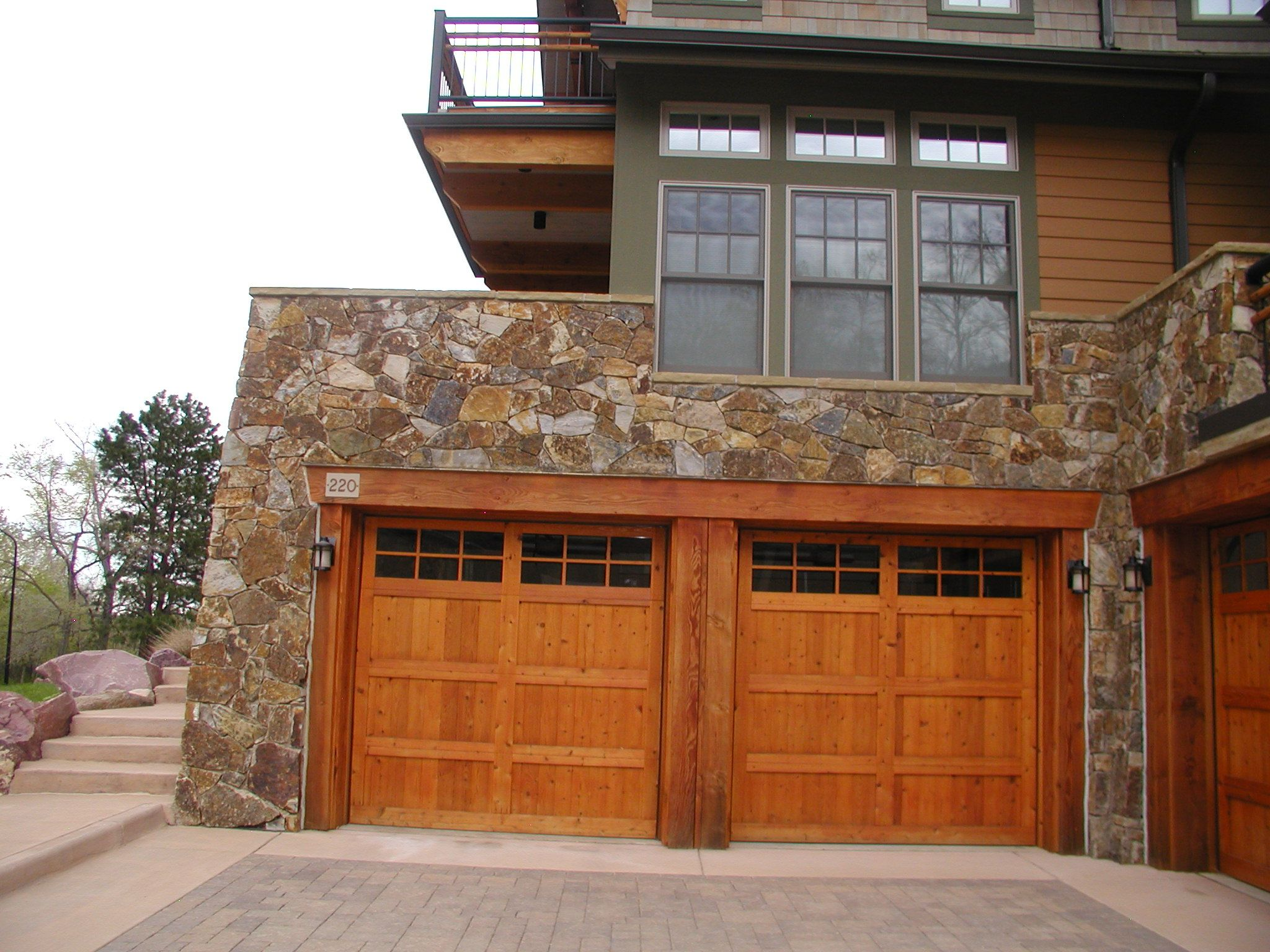 Wood Sided Doors Hand Crafted By A And J Garage Doors Home