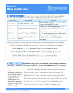 Lesson 11 - Using Context Clues | 7th grade ela, Context