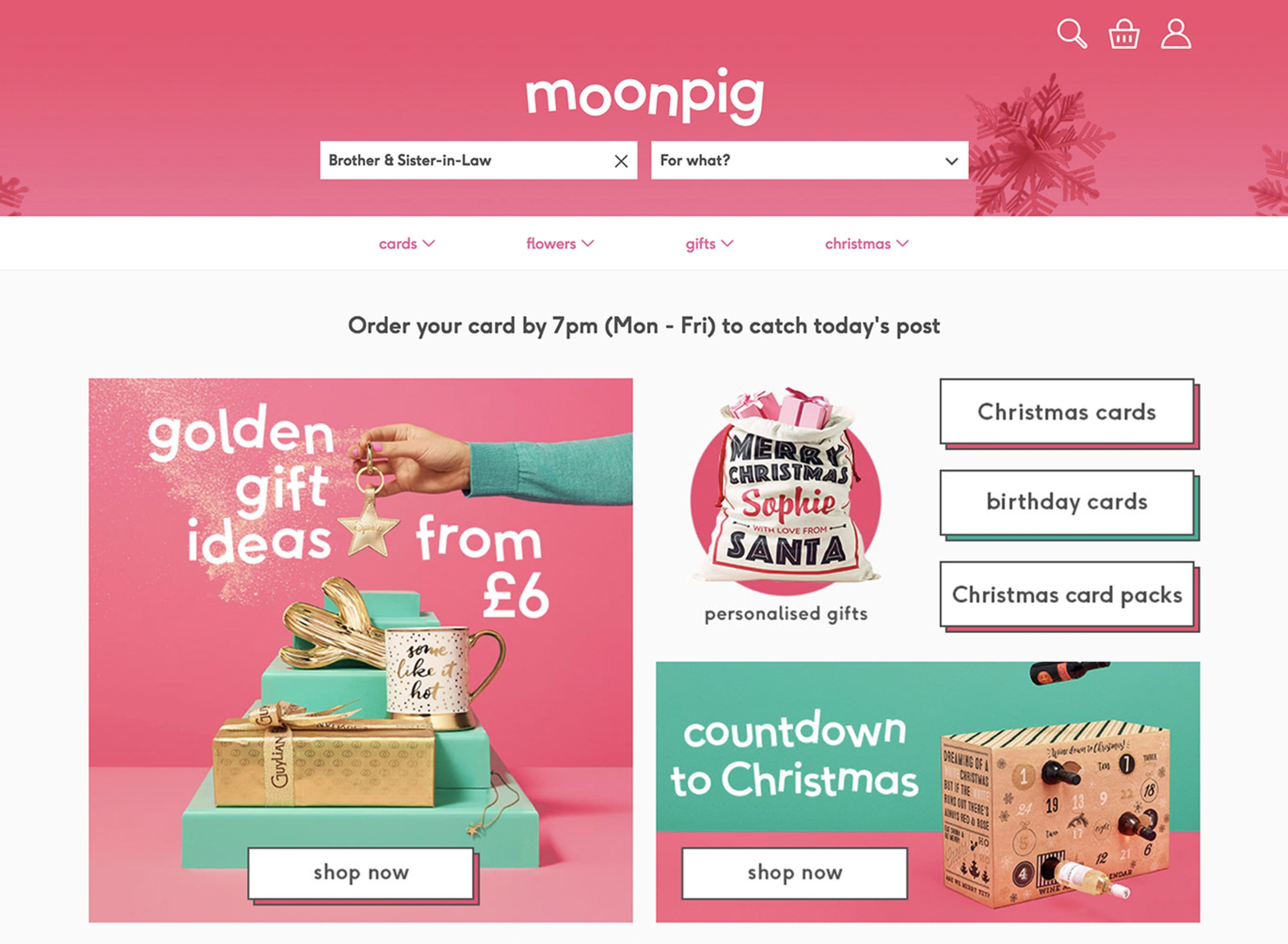 Moonpig Rebrand Bold Pink Logotype For Greeting Card And Gifts