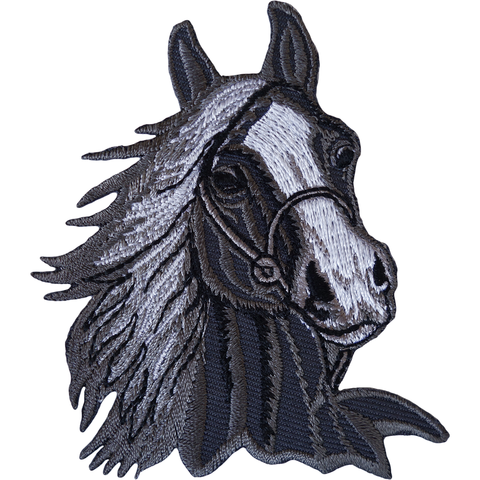 HORSE HEAD iron On Embroidered Patch Equestrian Horses