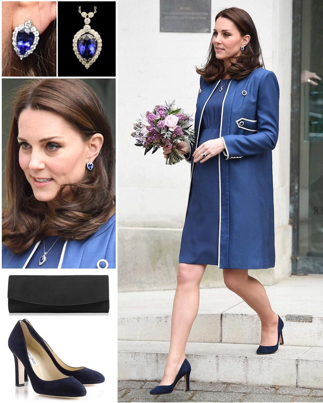 """a9b2f6da38e7 The Duchess attended two engagements in London today in a new bespoke coat  and dress by Jenny…"""""""