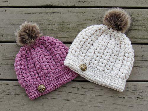 Pearl Puff Stitch Beanie pattern by CrochetDreamz