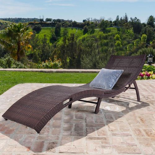 Pleasant Costway Mix Brown Folding Patio Rattan Chaise Lounge Chair Bralicious Painted Fabric Chair Ideas Braliciousco