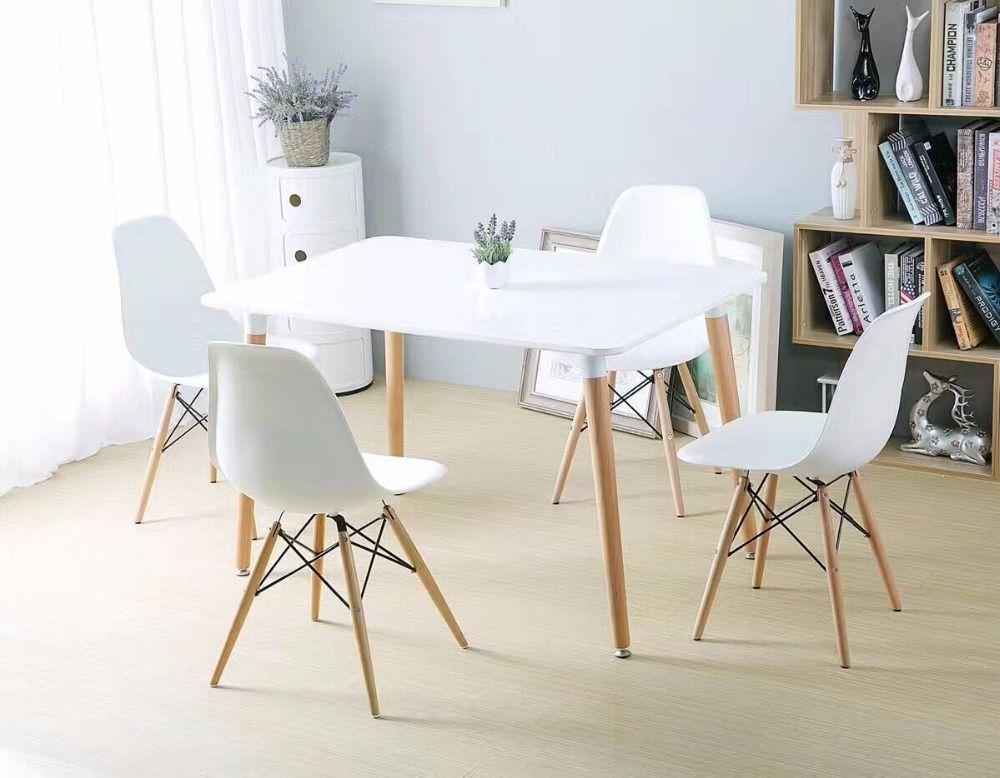 Minimalist Modern Design Dining Furniture Set 1 Table 4 Chairs