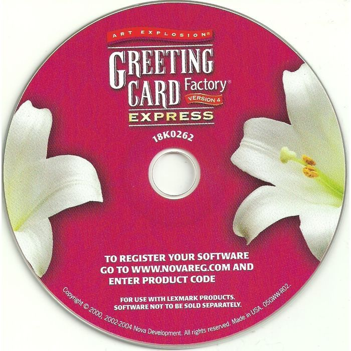 Pc software art explosion greeting card factory express 4 windows 98 pc software art explosion greeting card factory express 4 windows 98 me 2000 xp listing in the othersoftwarecomputing category on ebid canada 153702592 m4hsunfo