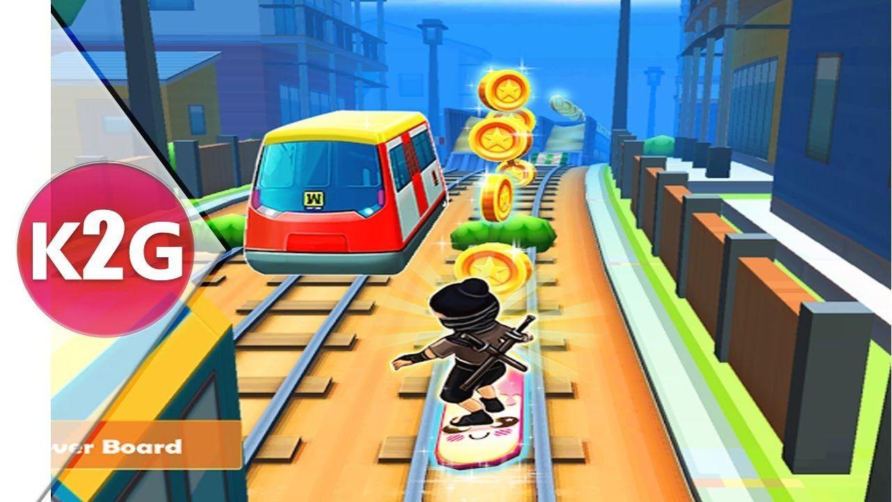 Ninja Subway Surf Rush Run In City Railway Flying Gameplay