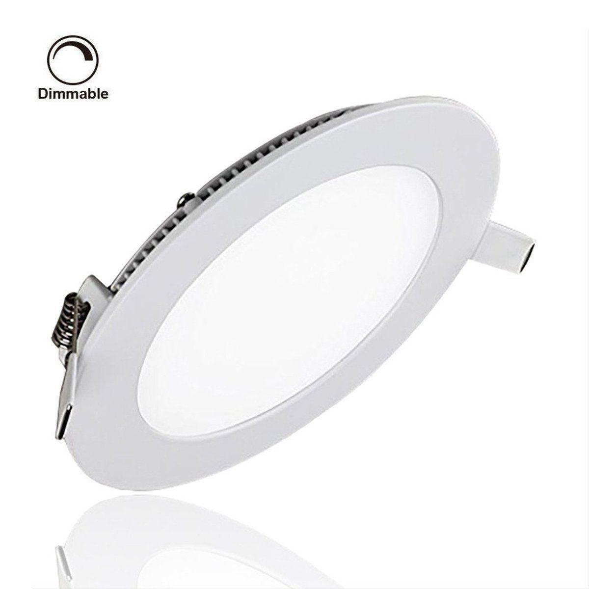 Amazon Com Progreen 9w Flat Led Panel Light Lamp Dimmable Round