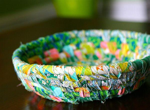 scrap fabric bowl - kinda cute