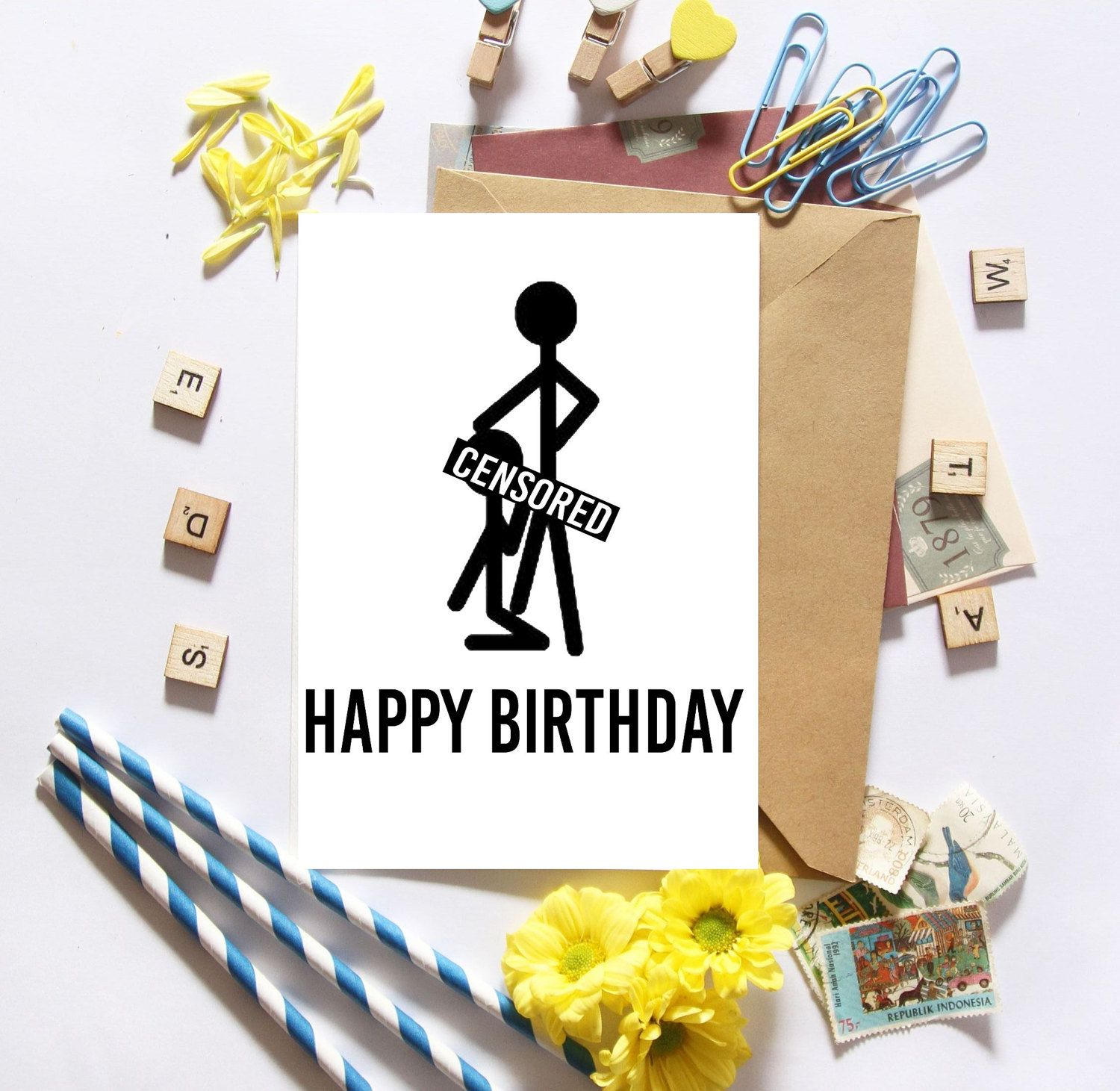 Funny Birthday Card 5 X 7 Inch With Kraft Envelope By