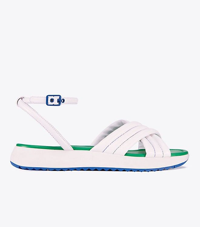 21265099c38615 TORY BURCH CRISSCROSS LEATHER SANDALS.  toryburch  shoes
