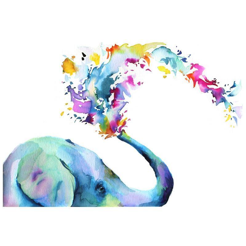 Rainbow Elephant Watercolor Kit Watercolor Kit Let S Make Art