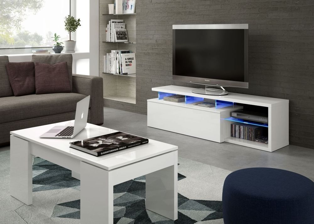 Details About Zenia Modern Tv Unit Deluxe Coffee Table Set Cool