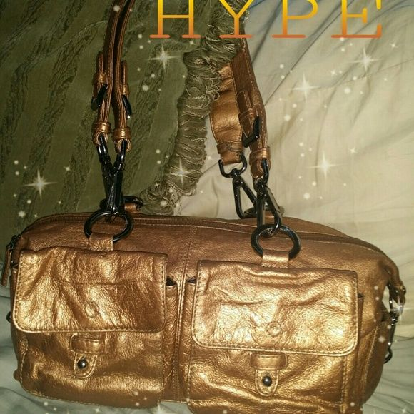 23e5ff7dca44 HYPE LEATHER HANDBAG Hype Gold Leather gorgeous handbag. Shows little signs  of wear.