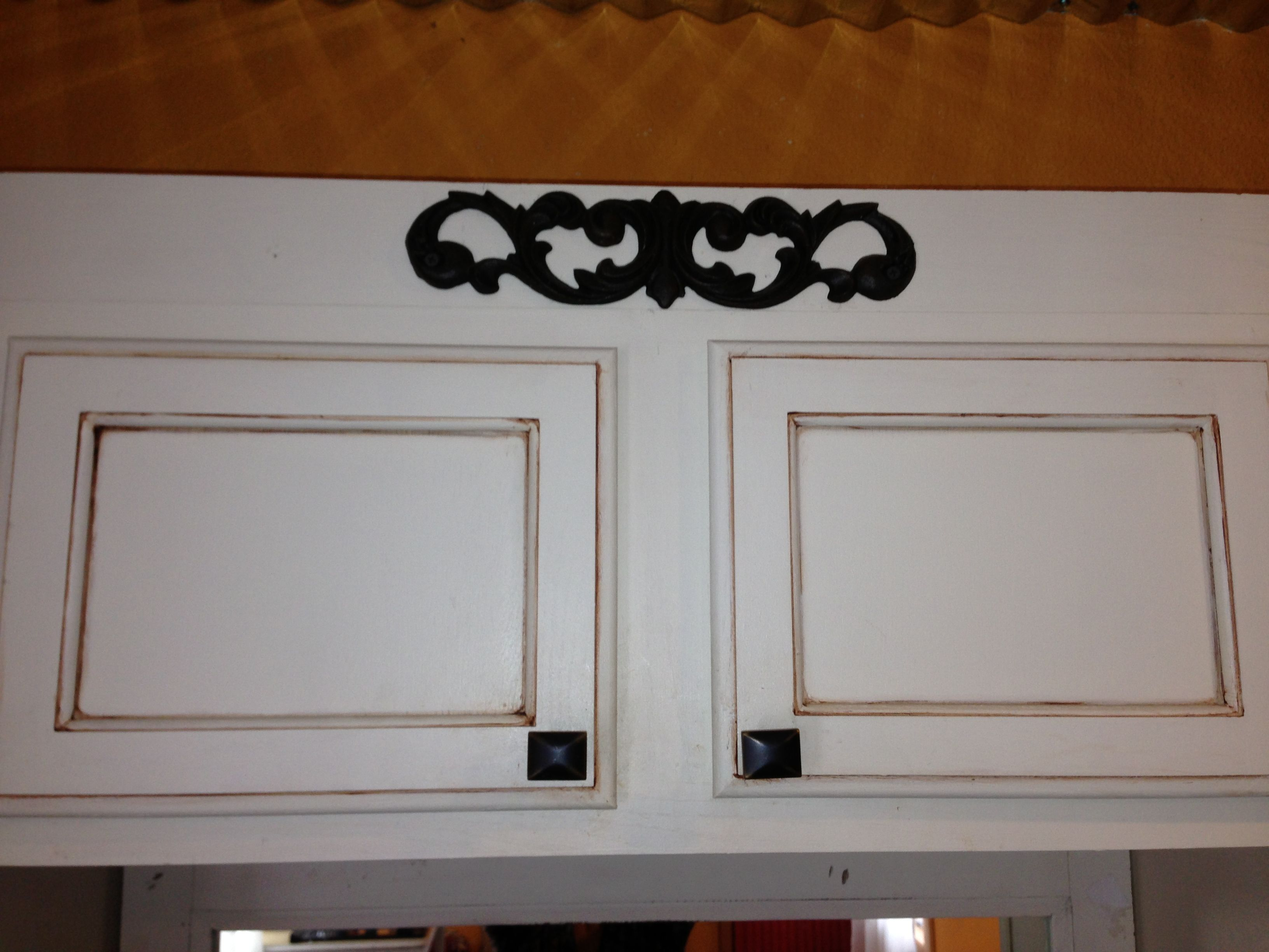 Painted cabinets plus add a hobby lobby garden iron piece ... on Hobby Lobby Furniture Clearance id=82938