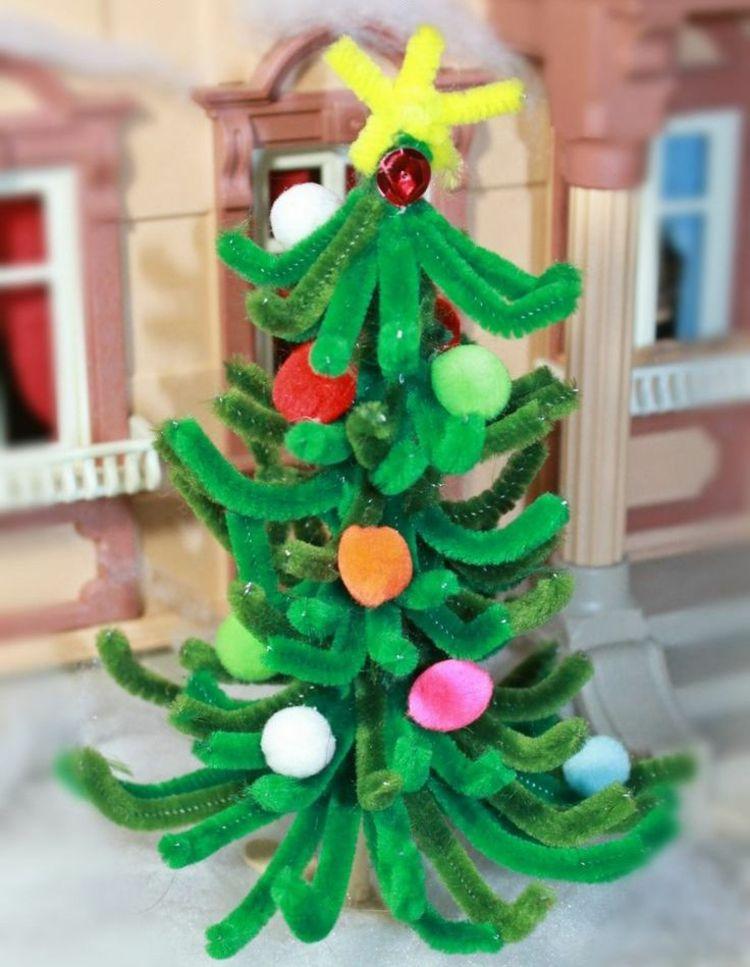 basteln pfeifenputzer weihnachten christbaum weihnachtsbaum ...