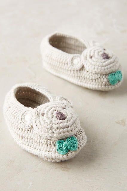 Anthropologie Crocheted Booties | ZAPATOS PARA BEBE | Pinterest