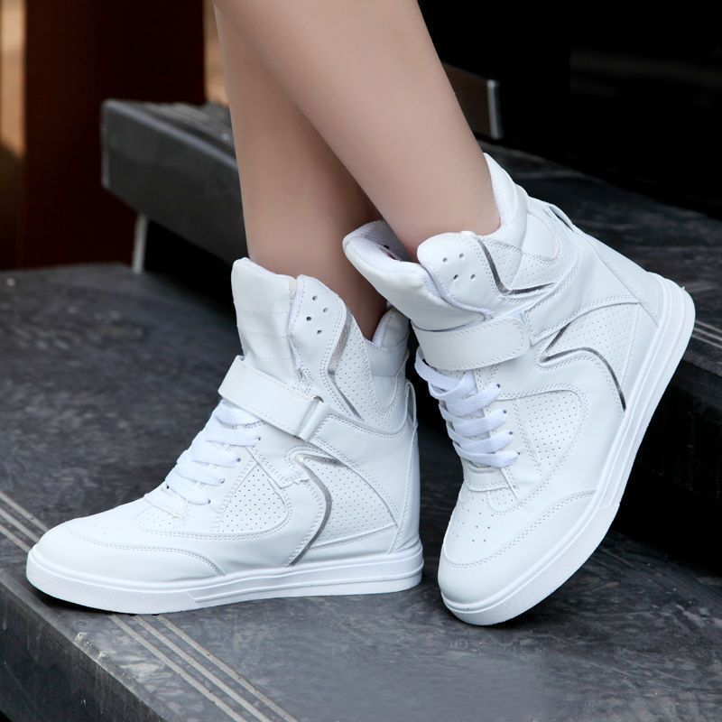 Womens High Top Shoes Platform Wedge Ankle Boots Lace Up