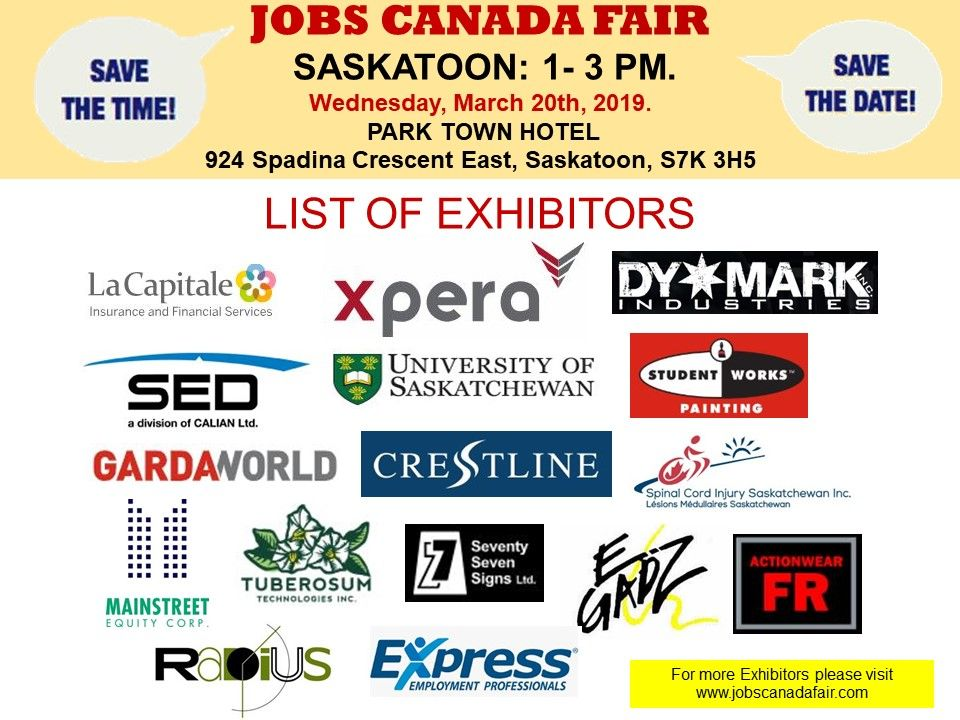 List Of Hiring Companies For Saskatoon Job Fair March 20th 2019