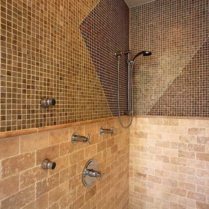 shower tile ideas bathroom decoration ideas with classic tile brown euro trend tiles - Shower Wall Tile Designs