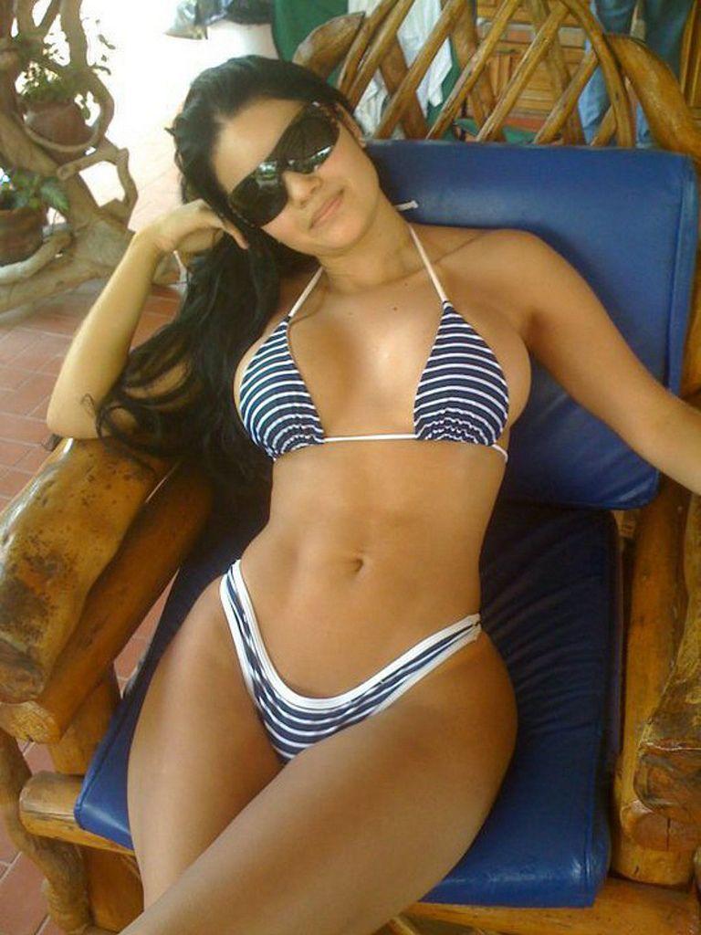Sexy girl big tits tanga