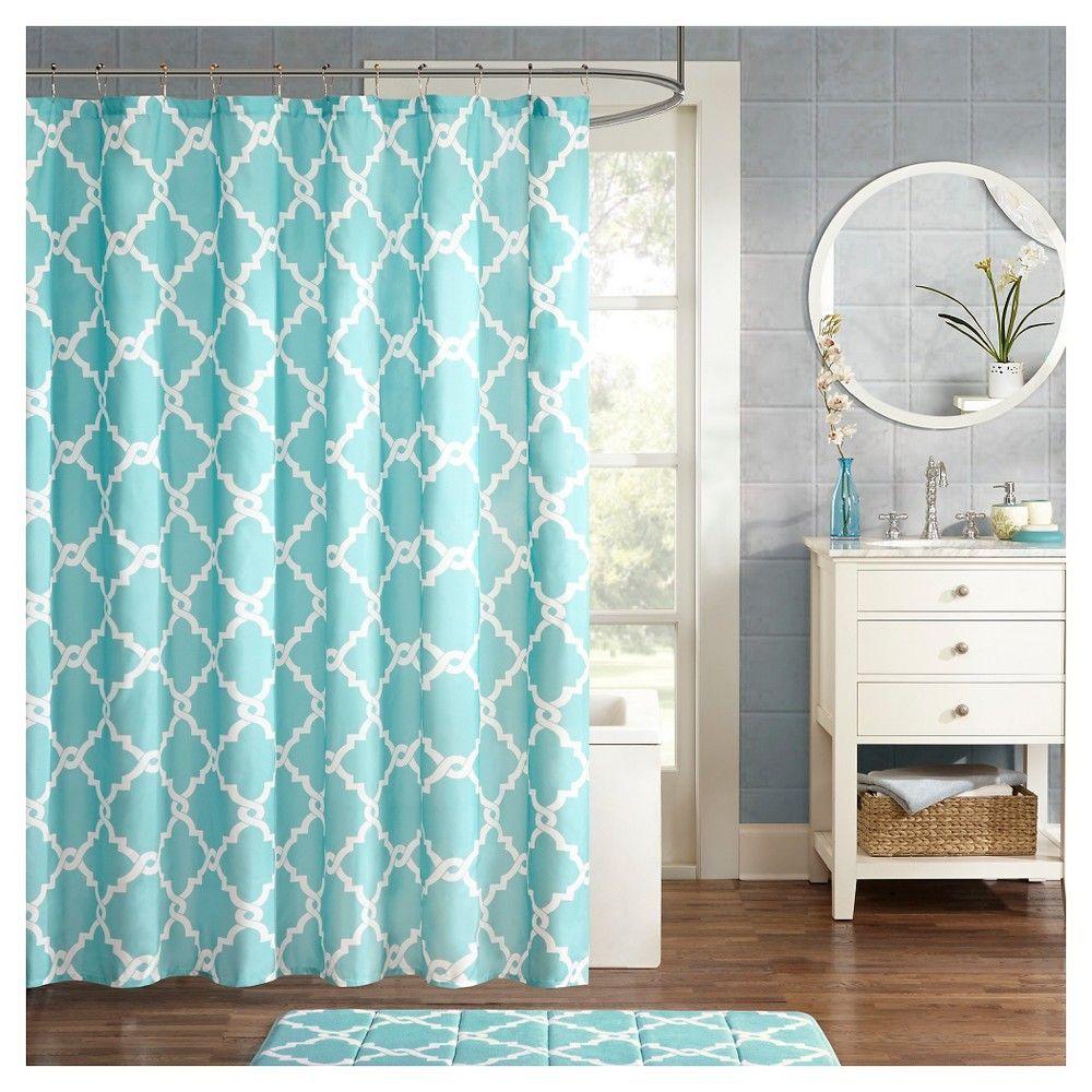 Becker Printed Geometric Shower Curtain