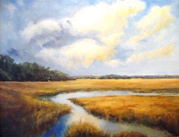 South Carolina Low Country Marsh Scene Coastal Area