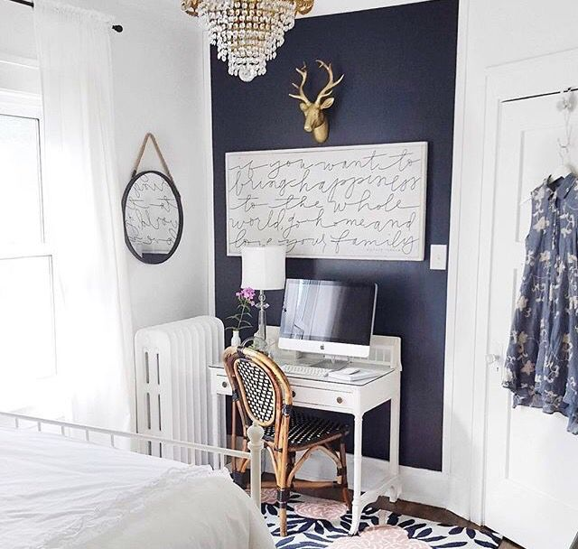 Navy Blue Accent Wall Study: Blue Accent Walls, Navy Accent Walls, Navy